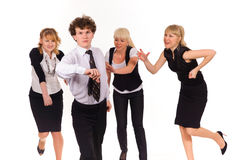 Competition of business team Royalty Free Stock Photography