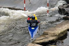 Competition Canoist Royalty Free Stock Image