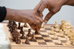 Competition of checkmate. In this game, both players attack simultaneously Stock Photos