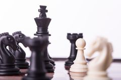 Competition chess business concept. Stock Image