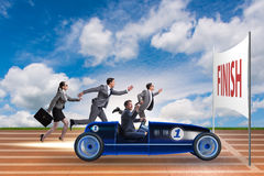 The competition concept with business people competing Royalty Free Stock Photography