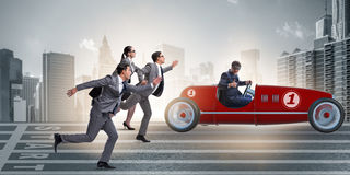 The competition concept with business people competing Royalty Free Stock Photo