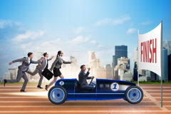 The competition concept with business people competing Stock Image