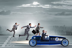 The competition concept with business people competing Royalty Free Stock Photos