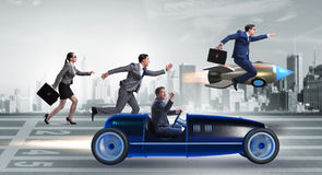 The competition concept with business people competing Stock Images