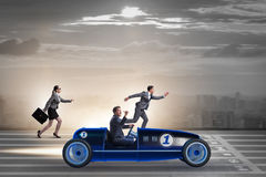 The competition concept with business people competing Royalty Free Stock Image