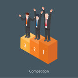 Competition concept design 3d isometric  illustration Royalty Free Stock Image