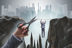 The competition concept with hanging businessman. Competition concept with hanging businessman Stock Photography