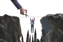 The competition concept with hanging businessman Royalty Free Stock Photo