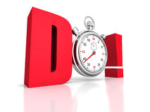 Competition concept red DO letters with classic stopwatch Stock Photography