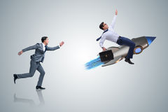 The competition concept with two businessmen Stock Image