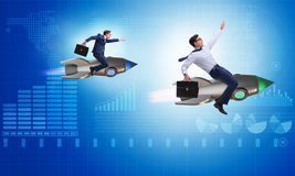 The competition concept with two businessmen. Competition concept with two businessmen Royalty Free Stock Photo