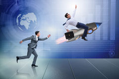 The competition concept with two businessmen. Competition concept with two businessmen royalty free stock photos
