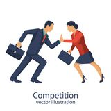 Competition concept vector man woman Stock Photo