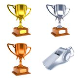 Competition Concepts - Trophy Cups of 3D Stock Photos