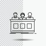 competition, contest, expert, judge, jury Line Icon on Transparent Background. Black Icon Vector Illustration stock illustration