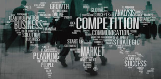 Competition Cooperation Customers Development Concept.  royalty free stock photos
