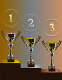 Competition cup_three_places Royalty Free Stock Photos