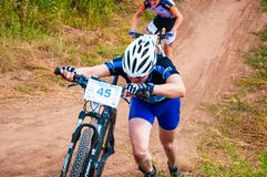 Competition cyclists Royalty Free Stock Photos