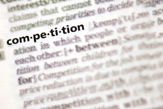 Competition definition in close-up Royalty Free Stock Photos