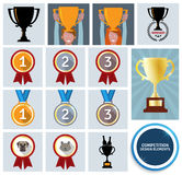 Competition design elements Stock Photos