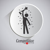 Competition design,  illustration. Royalty Free Stock Image