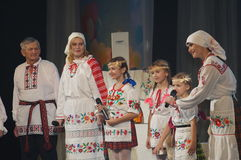 The competition family of the year in Minsk, 2014. Royalty Free Stock Images