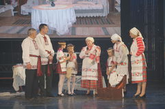 The competition family of the year in Minsk, 2014. Royalty Free Stock Photo