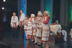 The competition family of the year in Minsk, 2014. Royalty Free Stock Image