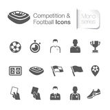 Competition & football related icons Stock Image