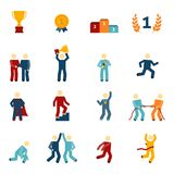 Competition Icons Flat Set Stock Photography