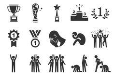 Competition icons - Illustration. Flat Design Illustration: Competition icons stock illustration