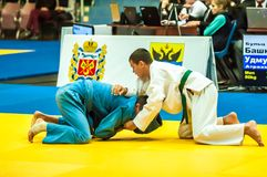 Competition in Judo Royalty Free Stock Images