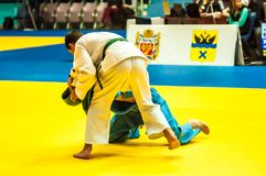 Competition in Judo Stock Images