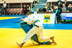 Competition in Judo Royalty Free Stock Photo