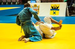 Competition in Judo Stock Image
