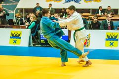 Competition in Judo Royalty Free Stock Photos