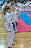 Competition on kyokushinkai karate. Stock Images