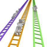 Competition and ladders. 3d rendered illustration Stock Images