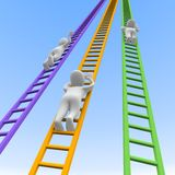Competition and ladders. 3d rendered illustration Royalty Free Stock Images