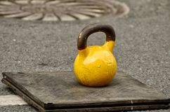 Competition in lifting weights stock photos
