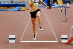 Competition long jump Stock Photography