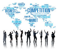 Competition Market Global Challenge Contest Concept Stock Photos