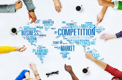 Competition Market Global Challenge Contest Concept Stock Photography