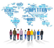 Competition Market Global Challenge Contest Concept.  Stock Image