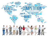 Competition Market Global Challenge Contest Concept Royalty Free Stock Photos