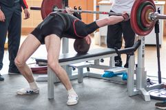 Competition men Powerlifting Royalty Free Stock Photos