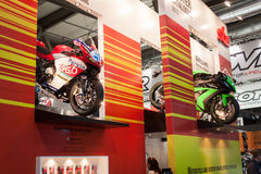 Competition motorbikes at EICMA 2013 in Milan, Italy Royalty Free Stock Image