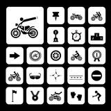 Competition motorcycle symbol Royalty Free Stock Photography