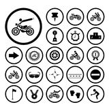 Competition motorcycle symbol Royalty Free Stock Photo